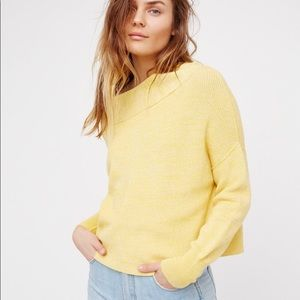 Free People Off Shoulder Boxy Sweater